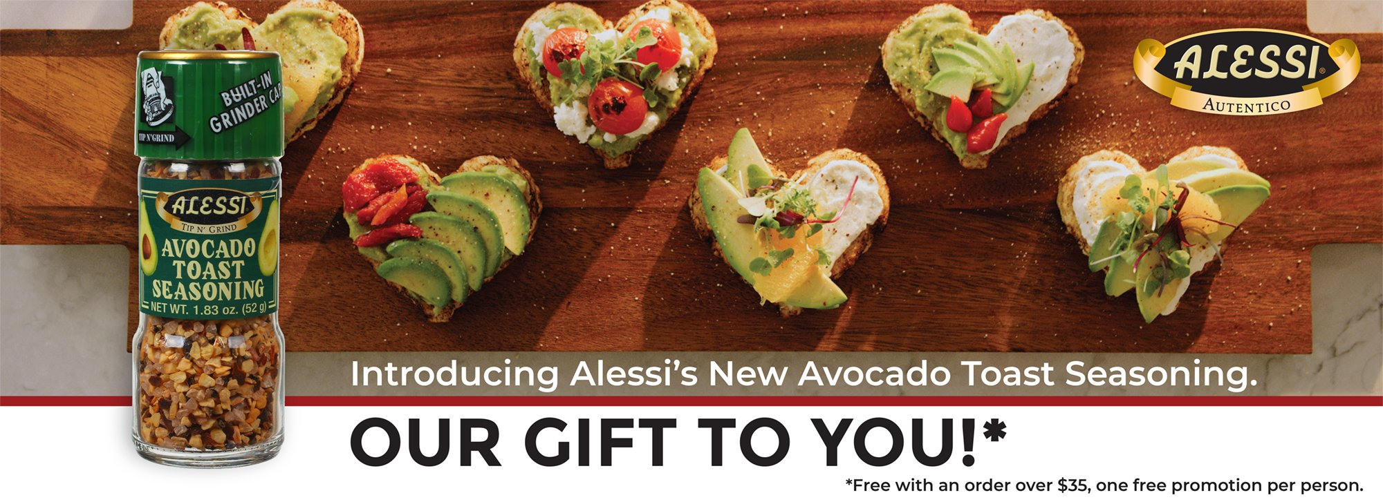 New Avocado Toast Seasoning Free with $35 order