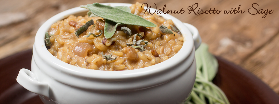 Walnut Risotto with Sage